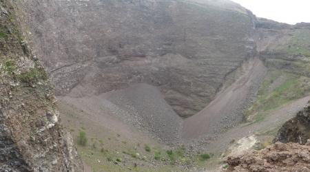 Blick in den Vesuv