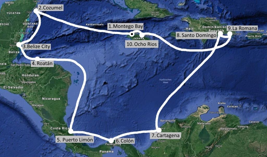 Karibik Kreuzfahrt mit Mittelamerika