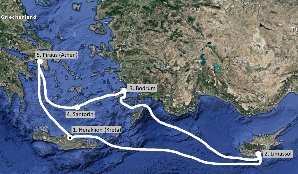Kreuzfahrt östliches Mittelmeer