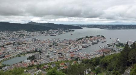 Ausblick vom Hausberg Fløyen