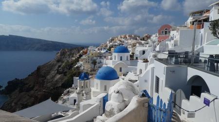 Blaue Kuppeln von Oia