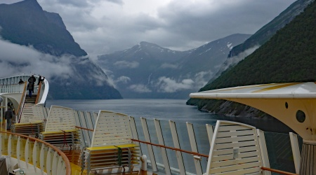 Hellesylt Fjord vom Schiff aus